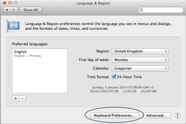 Change-Keyboard-Language-Keyboard-Preferences