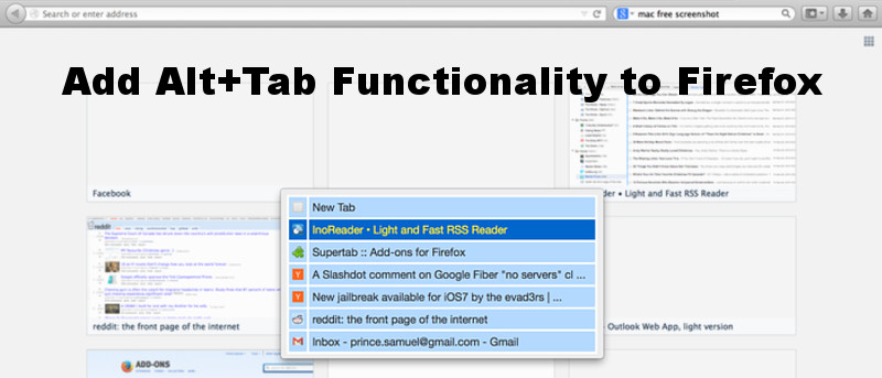 Add Alt+Tab Functionality to Firefox with Supertab - Make