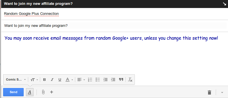 Don't Want Just Any Google Plus User Emailing You? Here's How to Stop Them