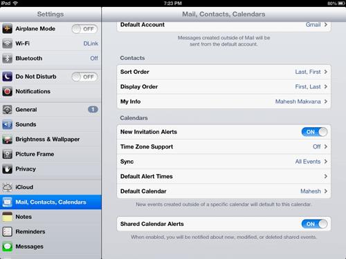 gcalendar-default-calendar