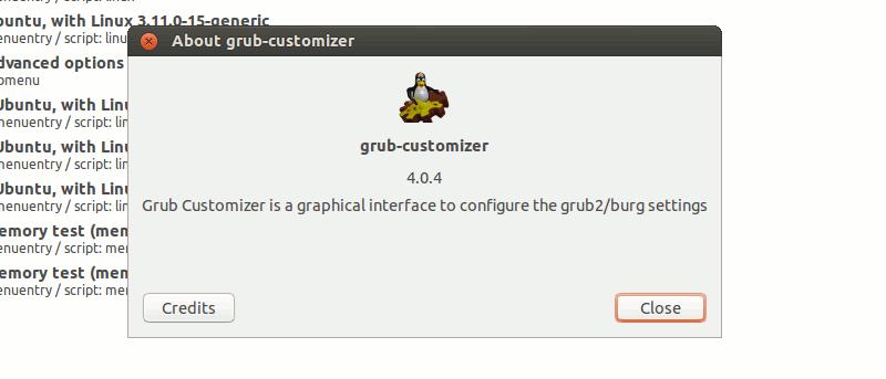 Easily Customize and Configure Grub Menu With Grub Customizer