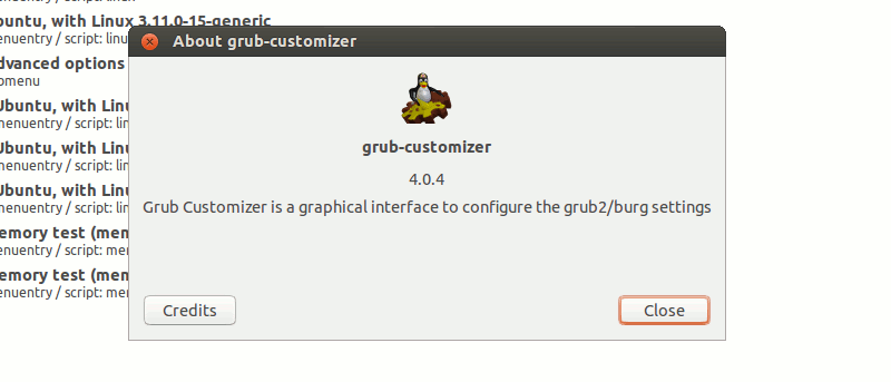 Easily Customize and Configure Grub Menu With Grub Customizer