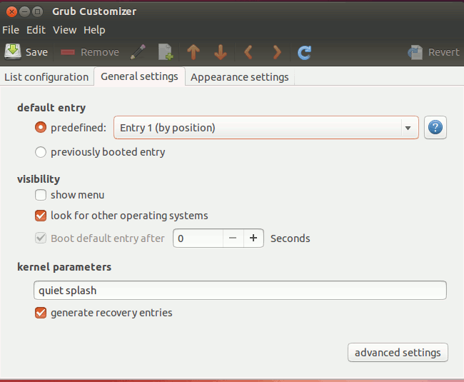 grub-customizer-general-settings