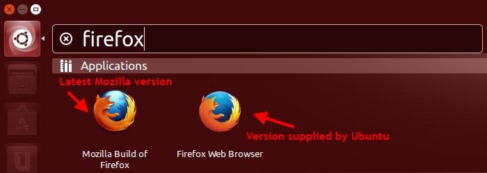 ubuntuzilla two firefox