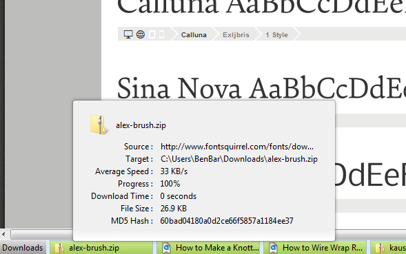download status bar - file download hover