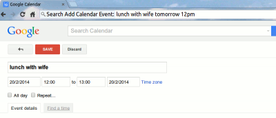 Add New Events to Google Calendar from the Chrome Omnibox