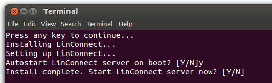 linconnect-server-finish-install