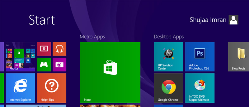 Backup and Restore Windows 8/8.1 Screen Layout