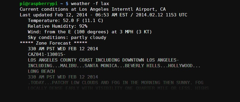 Get Weather Forecasts on Raspberry Pi