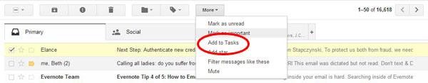 Gmail Tasks - Add an Email