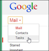 Gmail Tasks - GMAIL Button