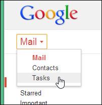 Gmail Tasks - GMAIL Button