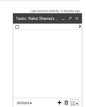 Gmail Tasks - List Popup BLANK