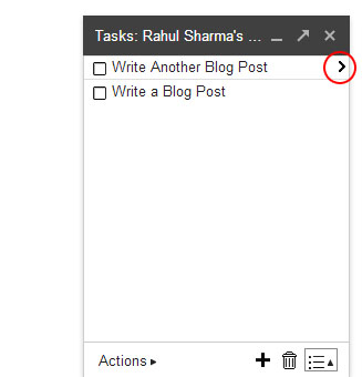 Gmail Tasks - List Write Tasks RED