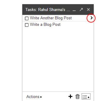 Gmail Tasks - List Write Tasks RED