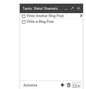 Gmail Tasks - List Write Tasks