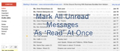 Mark all Unread Emails As Read At Once in Gmail [Quick Tips]