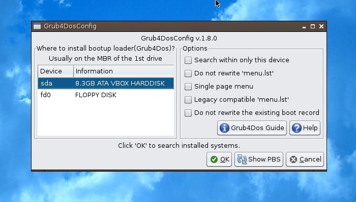 Simplicity Linux - grub