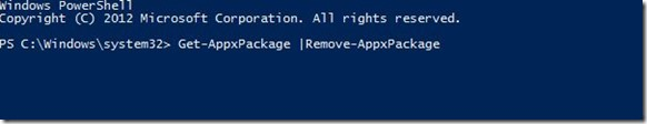 Remove Pre-installed Programs Windows 8 - Power Shell