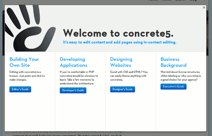 concrete5-login-guide