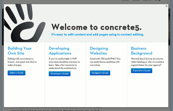 concrete5-login-guide