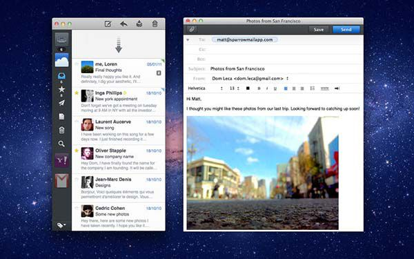 best email clients for mac - sparrow