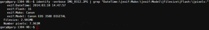 identify-verbose-and-grep