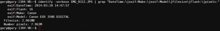 identify-verbose-and-grep