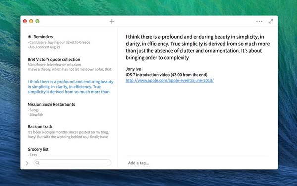 To-do lists for mac - simplenote