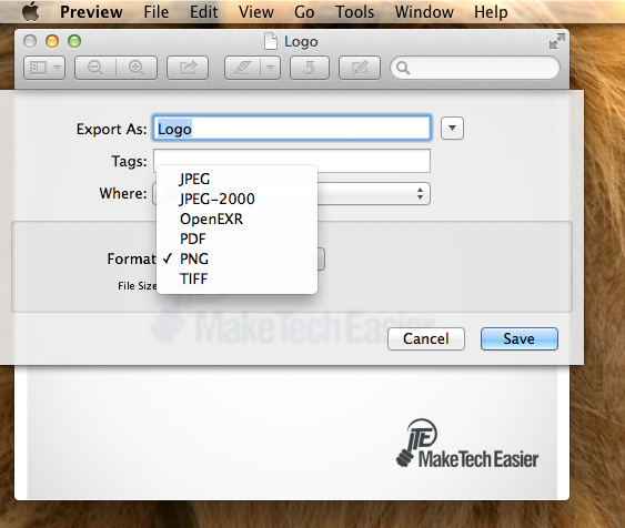 Convert-Images-Preview-Export-menu-list