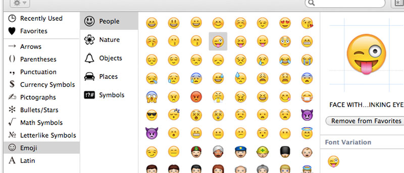 How to Easily Add Emoticons to File Names in OS X