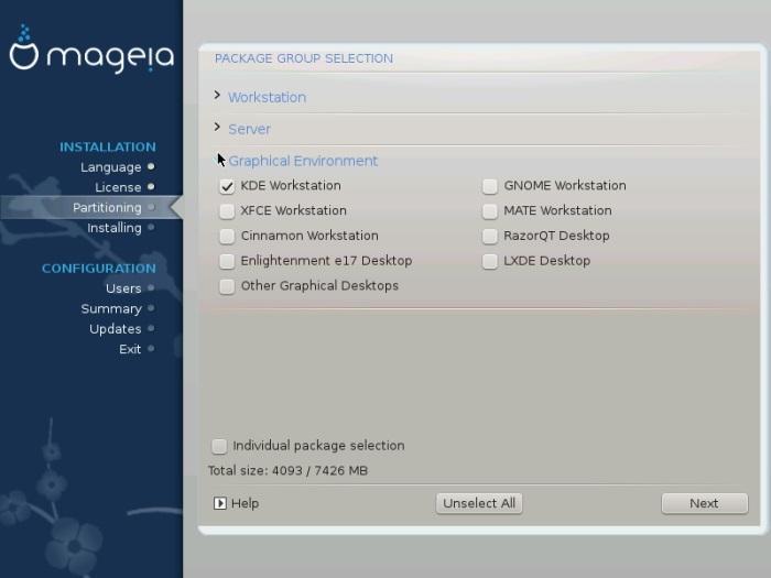 Mageia pick desktop