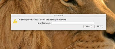 How To Easily Password Protect PDF Files In OS X