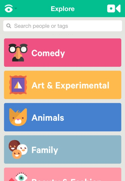 Vine-Explore Categories