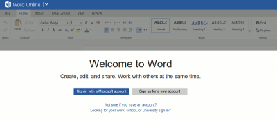 Using the New Microsoft Office App in Chrome