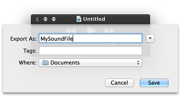 record sound on mac - filename