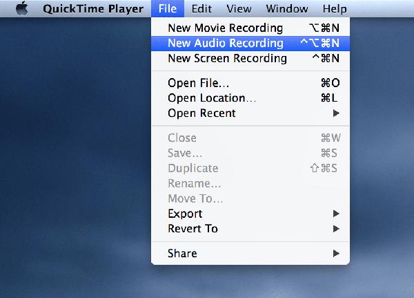 record sound on mac - new