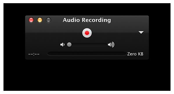 record sound on mac - start