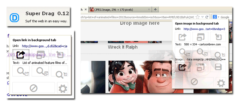 Open Links by Drag and Drop in Firefox with SuperDrag