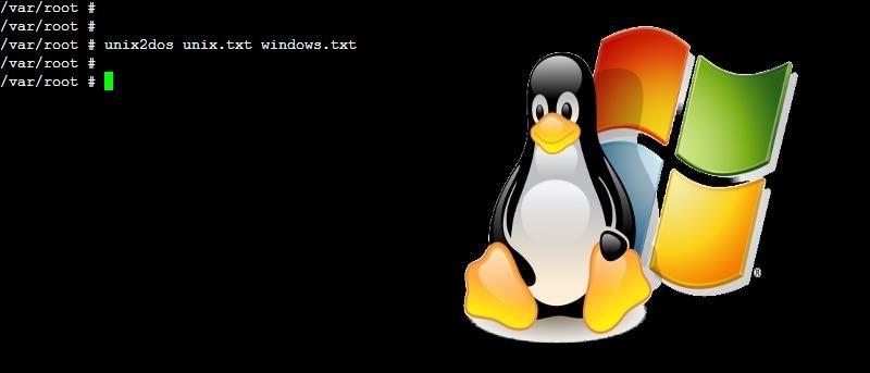 unix2dos linux