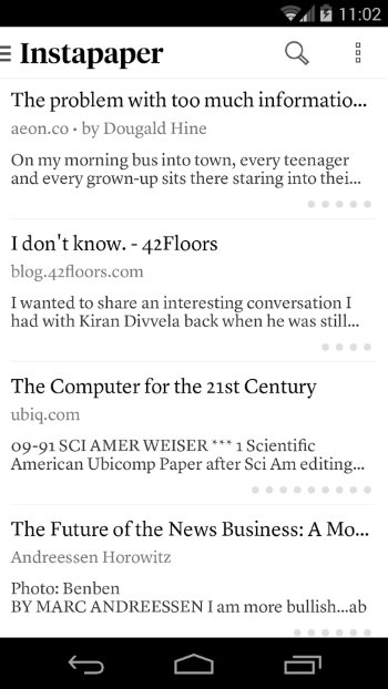 AndroidReadLater-Instapaper-List