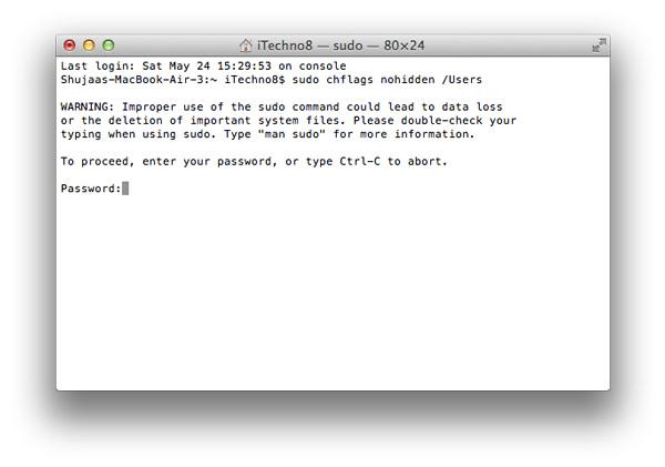Fix-Missing-Users-Folder-Sudo-Command-Warning
