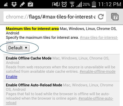 Speed-Up-Chrome-Android-Default