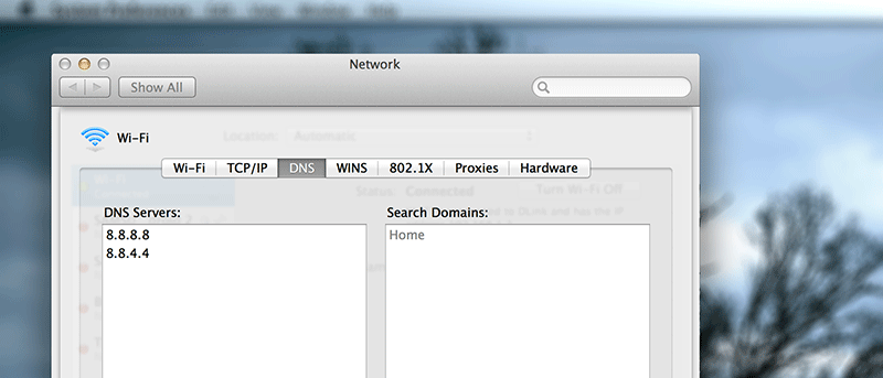 How to Configure Your Mac to Work with Google DNS or OpenDNS