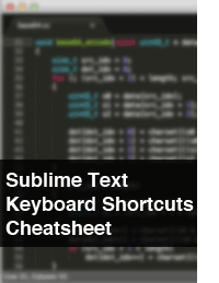 Sublime Text Keyboard Shortcuts Cheatsheet