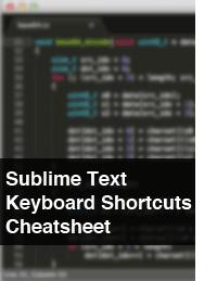 Sublime Text Keyboard Shortcuts Cheatsheet