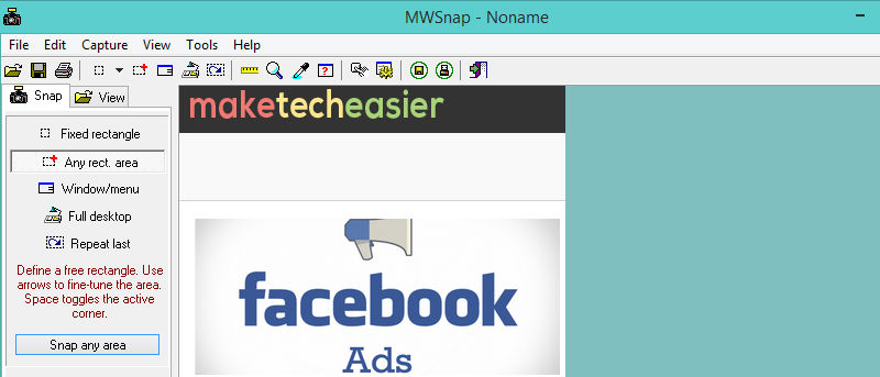 MWSnap – a Free Screen Capture Tool and Editor for Windows