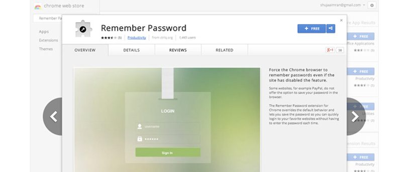 Force Google Chrome to Remember Username and Password for Particular