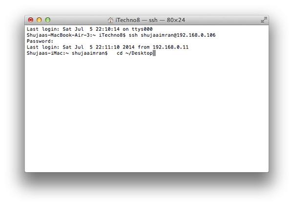 Remote-Login-Mac-First-Command