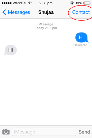 Report-Spam-iMessage-Contact